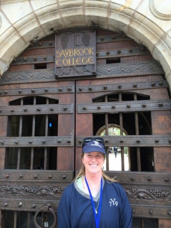 Molly in May 2014 at Saybrook, her residential college at Yale.