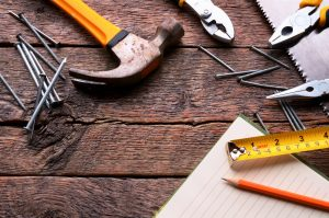 Necessary tools for carpentry and caregiving